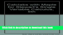 Ebook CalcLabs with Maple for Stewart s Single Variable Calculus, 5th Full Download