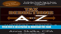 Books Tax Deductions A to Z for Writers, Artists, and Performers (Tax Deductions A to Z series)