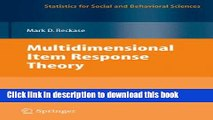 [Read PDF] Multidimensional Item Response Theory (Statistics for Social and Behavioral Sciences)