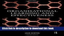 Ebook Organisational Learning and Effectiveness Free Online