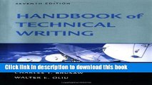 Ebook The Handbook of Technical Writing, Seventh Edition Full Online