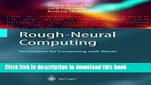 Books Rough-Neural Computing: Techniques for Computing with Words Free Online