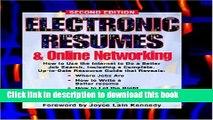 [Read PDF] Electronic Resumes   Online Marketing,: Second Edition (Electronic Resumes   Online