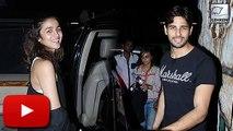 Alia Bhatt, Sidharth Malhotra SPOTTED Late Night