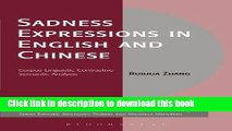 Ebook Sadness Expressions in English and Chinese: Corpus Linguistic Contrastive Semantic Analysis