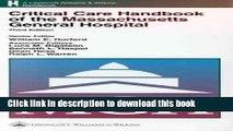 Ebook Critical Care Handbook of the Massachusetts General Hospital Full Online