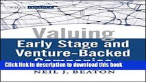 [PDF] Valuing Early Stage and Venture Backed Companies  Read Online