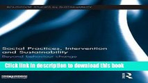 [PDF] Social Practices, Intervention and Sustainability: Beyond behaviour change (Routledge