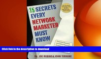 READ ONLINE 15 Secrets Every Network Marketer Must Know: Essential Elements and Skills Required to