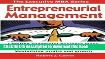 Ebook Entrepreneurial Management: Creating successful business plans Raising capital and