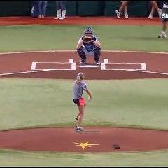 Un receveur de Baseball pas comme les autres