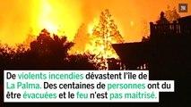 Canaries : de violents incendies ravagent l'ile de la Palma