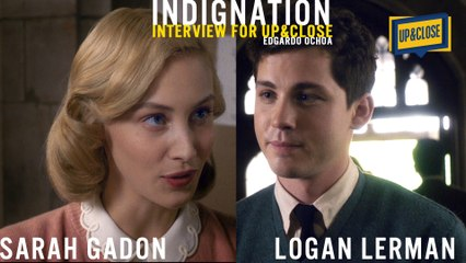 INDIGNATION Are you an outsider or just different? watch Logan Lerman & Sarah Gadon on  UP&CLOSE