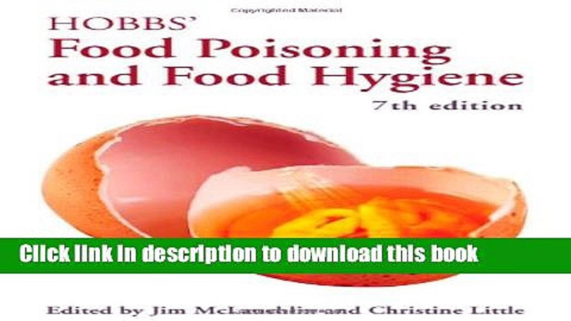 [PDF] Hobbs  Food Poisoning and Food Hygiene, Seventh Edition Download Full Ebook