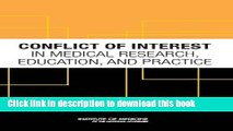 Ebook Conflict of Interest in Medical Research, Education, and Practice Free Online