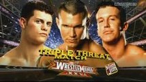 WWE Wrestlemania 26 Cody Rhodes vs Randy Orton Vs Ted Dibiase