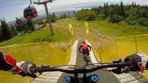 Claudio Caluori and Mark Wallace ShredMont Sainte Anne: GoPro View |UCI MTB 2016