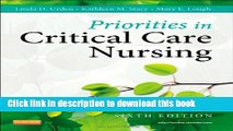 [PDF] Priorities in Critical Care Nursing, 6e (Urden, Priorities in Critical Care Nursing) Read