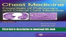 [PDF] Chest Medicine: Essentials of Pulmonary and Critical Care Medicine (Chest Medicine (George))