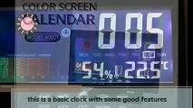 Hippih Electronic Table Clock Digital LCD Snooze Alarm Clock Bedside Desk Clock