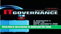 Books IT Governance: A Manager s Guide to Data Security and BS 7799/ IS0 17799 Free Online