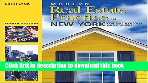 Books Modern Real Estate Practice in New York (Modern Real Estate Practice in New York For
