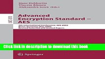 Books Advanced Encryption Standard - AES: 4th International Conference, AES 2004, Bonn, Germany,