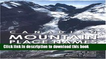 Ebook Canadian Mountain Place Names: The Rockies and Columbia Mountains Full Online