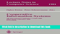 Books Cooperative Information Systems: 7th International Conference, CoopIS 2000 Eilat, Israel,