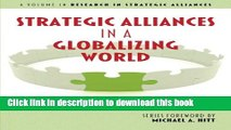 Download  Strategic Alliances in a Globalizing World (Research in Strategic Alliances)  Online
