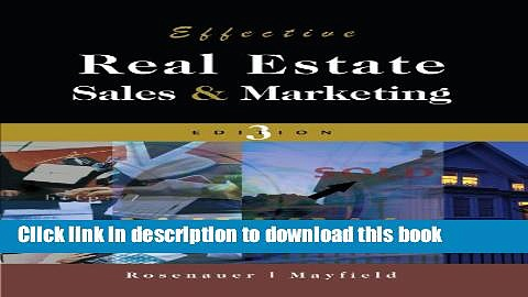 Books Effective Real Estate Sales and Marketing Full Online