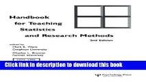 Ebook Handbook for Teaching Statistics and Research Methods Full Online