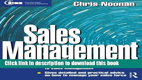 [Read PDF] Sales Management (Marketing Series: Practitioner) Ebook Online