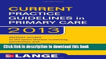 Books CURRENT Practice Guidelines in Primary Care 2013 Full Online