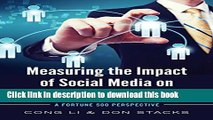 Ebook Measuring the Impact of Social Media on Business Profit   Success: A Fortune 500 Perspective