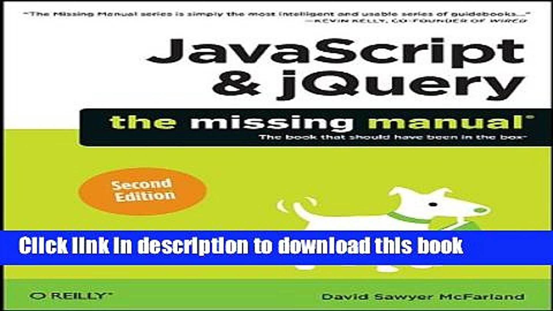 Ebook JavaScript jQuery: The Missing Manual Full Online