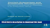 [PDF] Tourism Enterprises and Sustainable Development: International Perspectives on Responses to