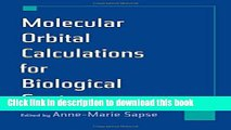 Ebook Molecular Orbital Calculations for Biological Systems Free Online