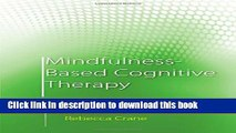 Books Mindfulness-Based Cognitive Therapy: Distinctive Features Full Online