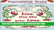 Books Inspirational Quotes: A Positive   Uplifting Adult Coloring Book (Beautiful Adult Coloring