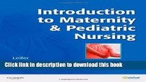 [Read PDF] Introduction to Maternity and Pediatric Nursing Download Free