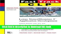 PDF  CLP Fast Track: Lotus Notes/Domino 5 Application Development (MCSE Fast Track)  {Free