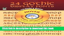 Ebook 24 Gothic Display Fonts CD-ROM and Book (Dover Electronic Clip Art) Free Online