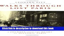 Books Walks Through Lost Paris: A Journey Into the Heart of Historic Paris Free Download