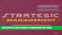 [Read PDF] Strategic Management: Strategists at Work Download Free