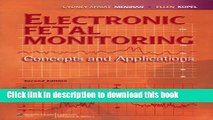 Books Electronic Fetal Monitoring: Concepts and Applications Full Online
