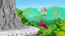 Helicopter cartoons for children - Helicopter for kids - red car crash