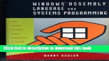 [Read PDF] Windows Assembly Language   Systems Programming: Object Oriented   Low-Level Systems