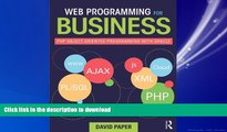 READ THE NEW BOOK Web Programming for Business: PHP Object-Oriented Programming with Oracle READ
