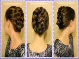 French Braid Tuck, Holiday Updo Tutorial grace hairs-1